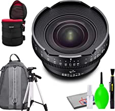 Rokinon Xeen 14mm T3.1 Lens for PL Mount Bundled with Protective Case, Padded Backpack, Tripod and Cleaning Kit