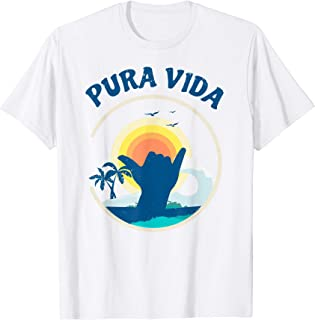 Pura Vida Beach Costa Rica Shirt Surfing Vacation