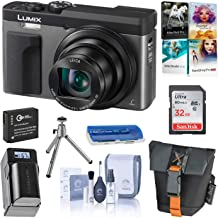 Panasonic LUMIX DC-ZS70S, 20.3 Megapixel, 4K Digital Camera, Touch Enabled 3-inch 180 Degree Flip-Front Display, 30X Zoom (Silver), Bag, Extra Battery-Charger, 32GB SD Card, PC Software Kit, Tripod