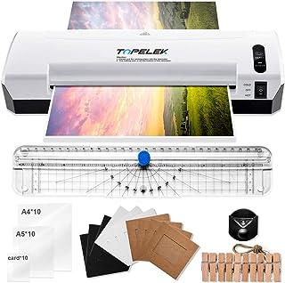 comprar comparacion TOPELEK Plastificadora A4, Máquina de Plastificar 5 en 1, 400mm/min, 30 Plásticos A4/A5/A7, cortador de papel, redondeador...
