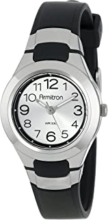 Armitron Sport Women's 25/6418 Easy to Read Dial Resin Strap Watch