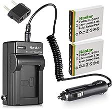 Kastar Battery (2-Pack) and Charger Kit for Kodak KLIC-7001 and Kodak EasyShare M320, M340, M341, M753 Zoom, M763, M853 Zo...