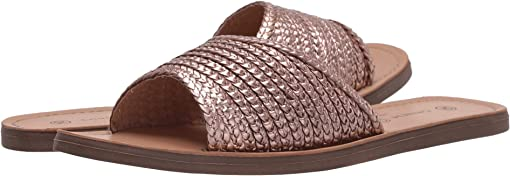 Rose Gold Woven Leather