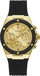 GUESS Womens Quartz Watch, Analog Display and Silicone Strap GW0030L2