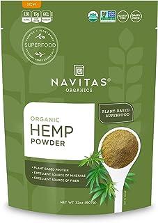 Navitas Organics Hemp Powder Organic, Non-GMO, Cold-Pressed, Gluten-Free, 32 Ounce, 32 Servings