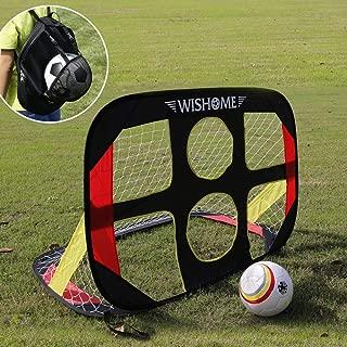 WISHOME 4FT 2 in 1 Pop Up Kids Soccer Goal Portable Kids...
