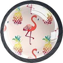 Lade handgrepen Pull voor huis keuken dressoir garderobe,Tropische Hawaiian Flamingo