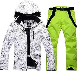 Outdoor Ski Suit Winter Warm Strap Leather Trousers + Ski Jacket Windproof Mountaineering Sports Jacket