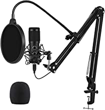 2020 Upgraded USB Microphone for Computer, Mic for Gaming, Podcast, Live Streaming, YouTube on PC, Mic Studio Bundle with ...