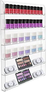 Sorbus Nail Polish Wall Rack Display Holder - Stylish Organizer for Home, Salon, Spa, Tattoo Shop, 6-Tiers, Holds Up to 90...