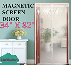 "Linkhome Transparent Magnetic Screen Door 34""×82"" Curtain Prevent Air Conditioning Loss Help Saving Electricity & Money,Enjoy Warm Winter,Thermal and Insulated Auto Closer Door Curtain"