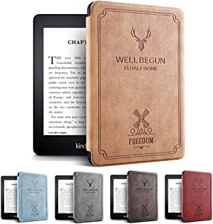 Amazon第10世代Kindle Paperwhite 4ケース 軽 薄 全面保護 電子書籍リーダー保護カバー オートスリープ機能 耐衝撃 KPW4 2018キンドルペーパーホワイト専用 (ブラウン)