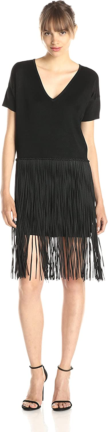 French Connection Women's Collection Spotlight Fringe Dress
