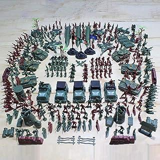 307 Pcs Soldados de Plastico Soldados de Juguete Soldados de Plastico Militar para Niños Plástico Verde Tradicional para Los Juegos de Guerra del Ejército Militar Juego de Combate del Ejército