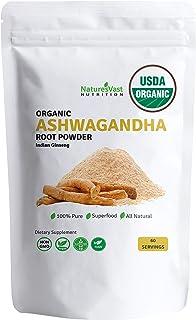 Ashwagandha Root Powder-USDA Organic 100% Pure-4.4oz-60 Servings-1Month Supply