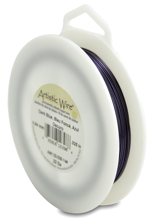 Artistic Wire 22-Gauge Dark Blue Wire, 1/4-Pound