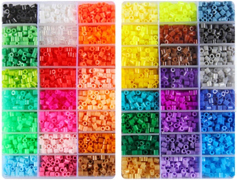 Kehuahsina 48 color Hama Beads 9600pcs Perler Beads 5mm Fuse Beads 4 Template+5 Iron Paper+Tweezers Jigsaw Toy Gift