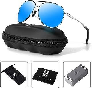 Aviator Sunglasses for Men Polarized Women UV Protection Lightweight Driving Fishing Sports Mens Sunglasses MX208