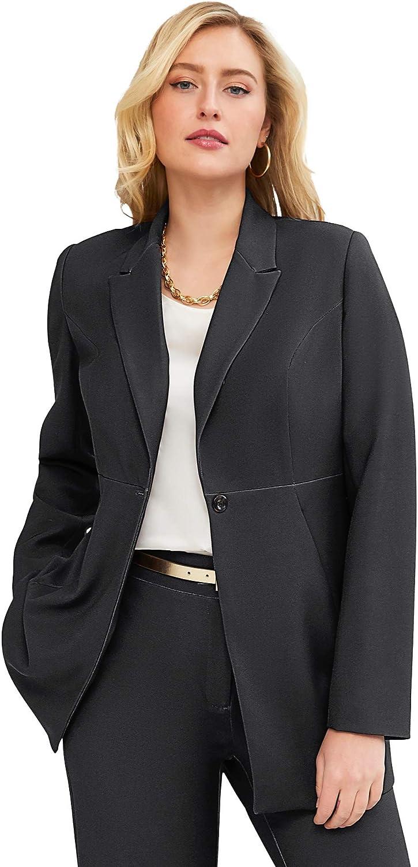 Jessica London Women's Plus Bi-Stretch Washington Mall [Alternative dealer] Professional Size Blazer