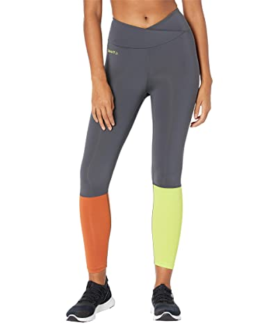 Craft Core Sence Tights (Asphalt/Scream) Women