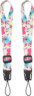 Wisdompro Camera Wrist Strap, 2 Pack Adjustable Length, Polyester Wrist Lanyard with Oval..