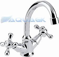 Retro Zweigriff Badezimmer Wasserhahn Nostalgie Waschtisch Armatur Classic V14
