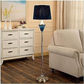 LZXH Lampadaire Lampadaires élégants, Art déco Salon Chambre Bureau lampadaires rustiques avec Abat-Jour en Tissu Bleu, La...