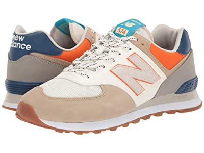 New Balance Classics ML574v2-USA (Incense/Varsity Orange) Men