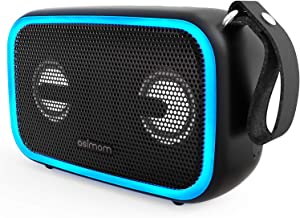 Bluetooth Speakers, Asimom 28W Portable Outdoor Speakers with Enhanced Bass, IPX7 Waterproof, Bluetooth 5.0, Wireless Stereo Pairing, 12H Playtime, LED Beat-Driven Light, Supports TF Card and AUX-in