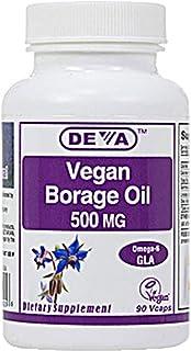 Deva Vegan Vitamins, Borage Vegan, 90 Count