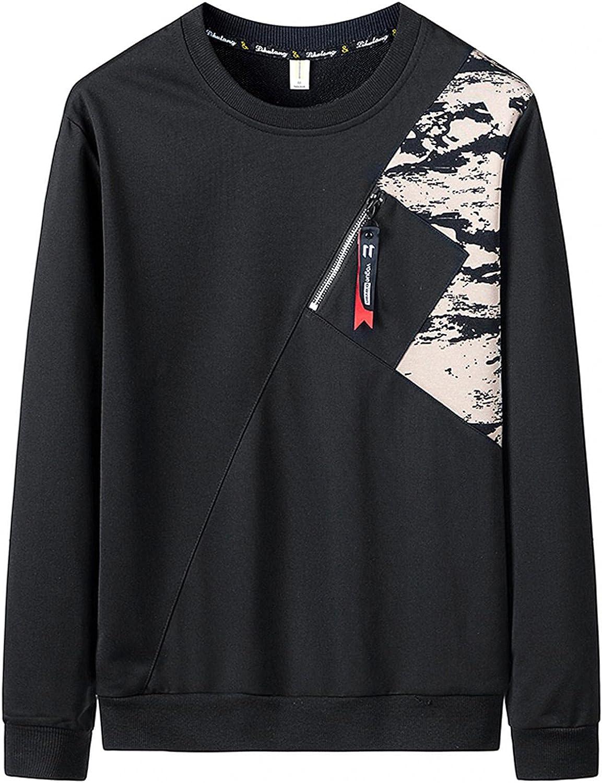 Men's Sports Sweatshirts Adult Soft Cozy Crewneck Pullover Novelty Lightweight Fashion Long Sleeve Shirts Tops