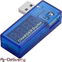 AZDelivery USB Charger Doctor Multimetro Cargador Medidor Voltaje Voltímetro con eBook incluido