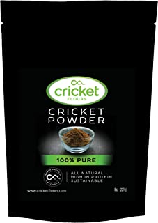 Cricket Flour: 100 Pure Cricket Powder 227gram (Made from North American Roasted Crickets) Great High Protein Option for Shakes, Baking, and Recipes. Made in Portland, Oregon and 25+ Cookbook Included