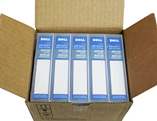 Genuine OEM 5-Pack Dell HC591 HC593 RC922 400 GB (Native) / 800GB (Compressed) LTO LOT-3 Ultrium3 Data Tape Cartridge Compatible Part Numbers: HC591, HC593, RC922
