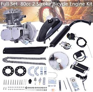 80CC Bicycle Engine Kit, Motorized Bike 2-Stroke, Petrol Gas Engine Kit, Super..