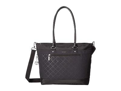 Hedgren Zircon RFID Medium 14 Tote (Black) Tote Handbags