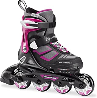 featured product Rollerblade Spitfire XT Girl's Adjustable Fitness Inline Skate,  Black and Pink,  Junior,  Youth Performance Inline Skates