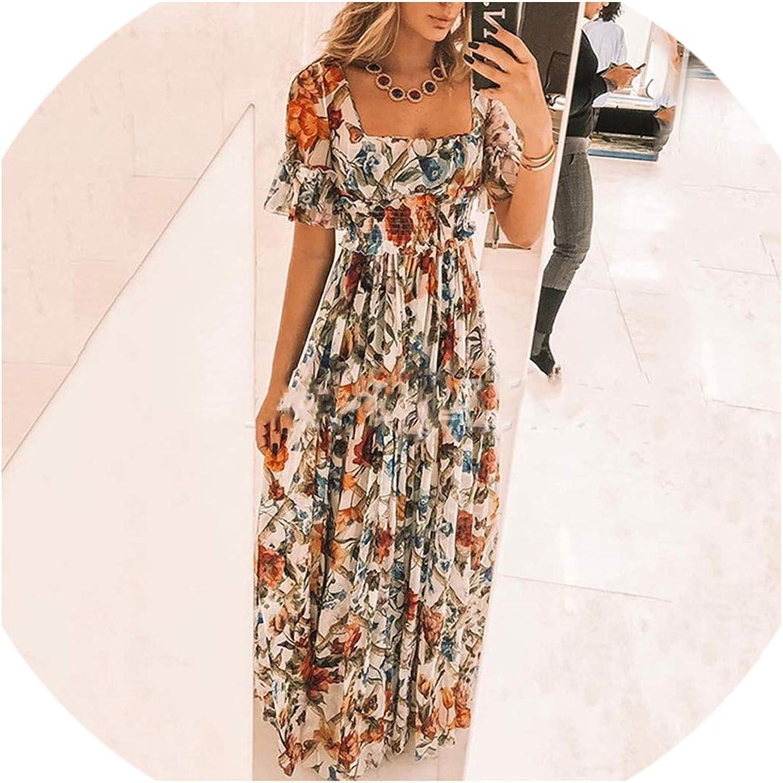 DESIRE DESTINATION Plus Size Dress Women Summer Beach Bohemian Print Dress Sexy Elegant Party Night Maxi Dress