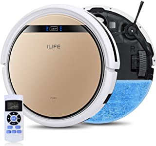 ILIFE V5s Pro 2, 2-in-1 Robot Vacuum and Mop, Slim, Automatic Self-Charging Robotic Vacuum, Daily Schedule, Zigzag Cleanin...
