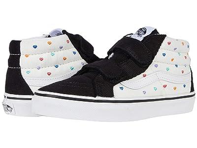 Vans Kids SK8-Mid Reissue V (Little Kid) ((Rainbow Cord) Classic White/Black) Girls Shoes