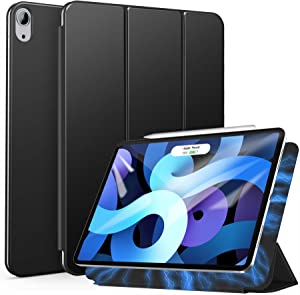 ZtotopCase for New iPad Air 4 10.9 Inch 2020/iPad Pro 11 Inch 2018 Case, [Support Auto Sleep/Wake & Apple Pencil Charging], Magnetic Trifold Stand Case for iPad Air 4th Generation, Black