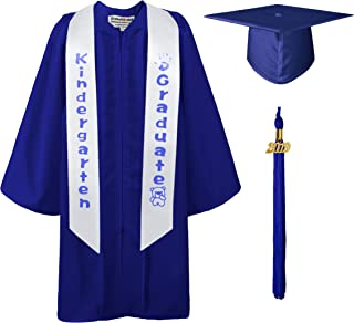 GraduationMall Matte Kindergarten Graduation Gown Cap Sash Package with 2019 Tassel