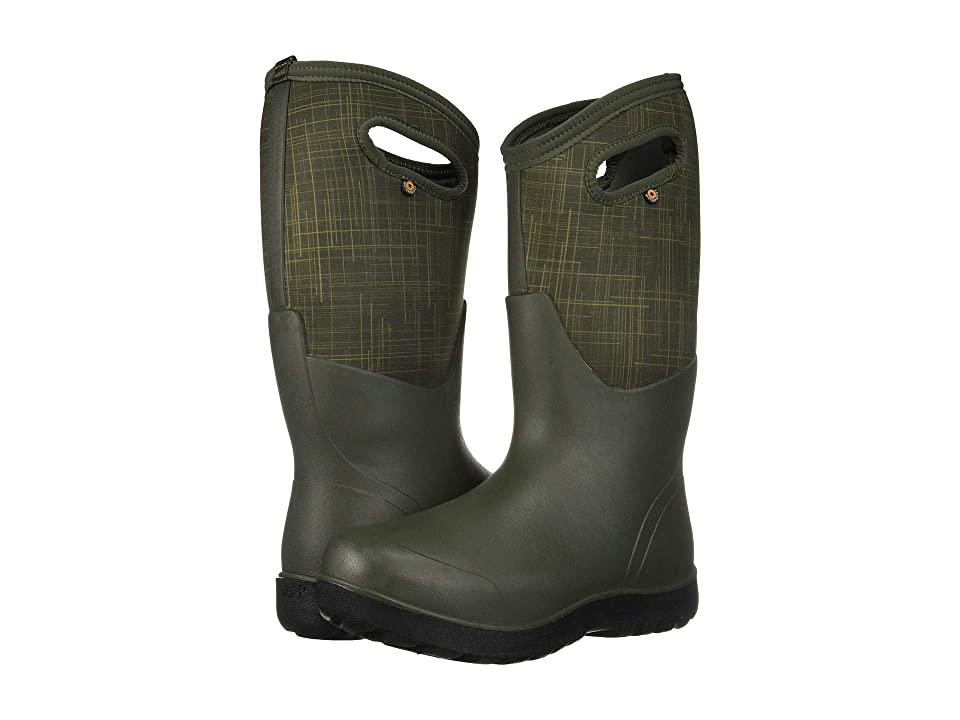 Bogs Neo-Classic Linen Tall (Dark Green Multi) Women