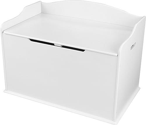 KidKraft 14951 Spielzeug-Truhe Austin aus Holz für Kinder in Weiß- Aufbewahrungsbox Kinderzimmer M l