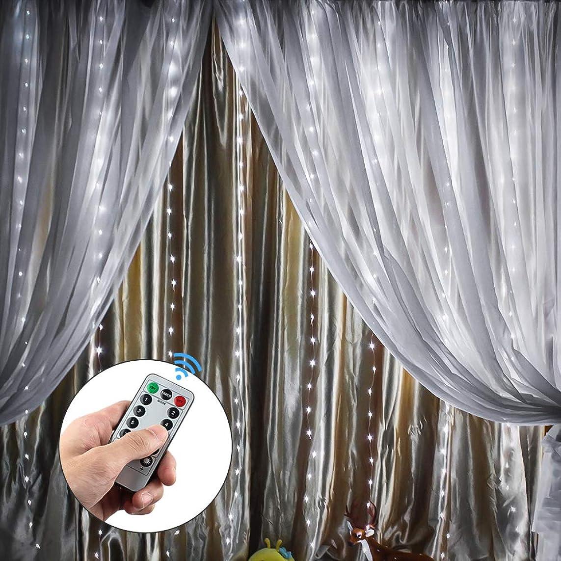 中国ラジエーター血MIYOLE イルミネーションライト カーテンライト 300LED電球 3M*3M USB給電式 ledストリングライト 寝室カーテン ハロウィン クリスマス 結婚式 パーティー 装飾用 ホワイト