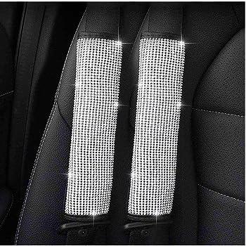 B - Hand Brake Cover Auto Handbrake Cover Center with Bling Matrix Diamond Soft Velvet Exquisite Leather Edging Car Decor Accessory Simple and Elegant Design