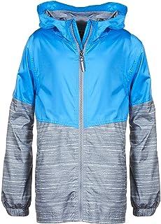 Arctic Quest Children's Colorblock Windbreaker Jacket with Jersey Lining & Hood