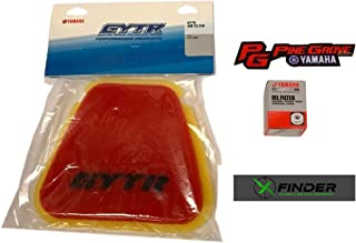 2018-2019 Yamaha YZ450F/250F GYTR High-Flow Air filter with Genuine OEM Oil Filter, Includes X-Finder and Pine Grove Yamaha Stickers