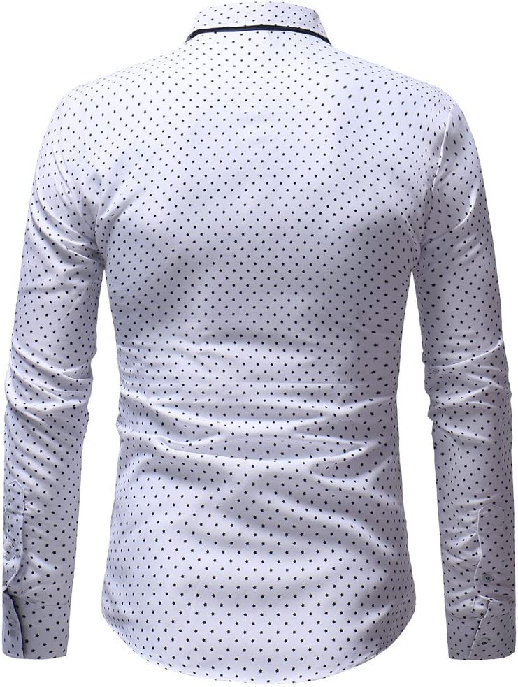 casual xxx-large azul dise/ño de patchwork Briskorry Camisa de manga larga para hombre