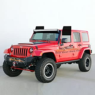 Tint Kits (Computer Cut) For 2011-2016 Jeep Wrangler Unlimited (Front Windows, 20% Tint)